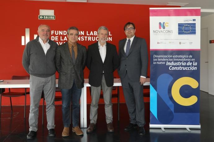 La Fundación Laboral de la Construcción de Navarra firma un convenio con los colegios de arquitectos, ingenieros de caminos y economistas