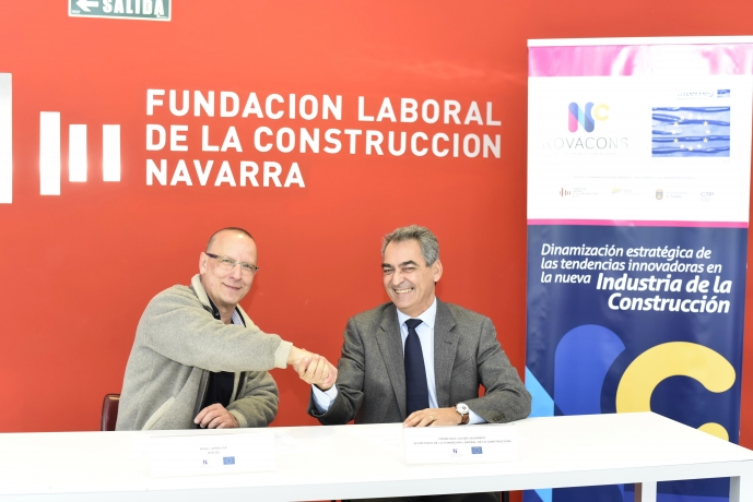 La Fundación Laboral de la Construcción de Navarra e Hirudi firman un acuerdo para impulsar la 'Construcción 4.0'