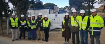 Nueva visita a las obras del Cerro de Santa Bárbara